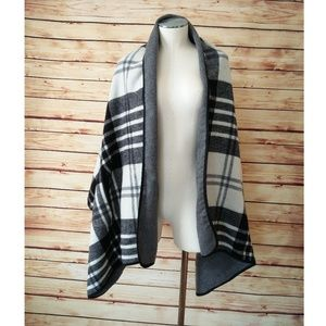 J. Crew Plaid cape scarf